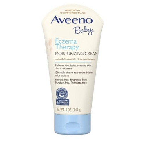 Aveeno Baby Eczema Therapy Moisturizing Cream, 5 Ounce (Pack of 2)