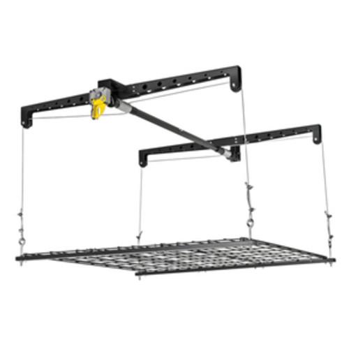 Racor Ceiling Storage Lift, Steel, Black