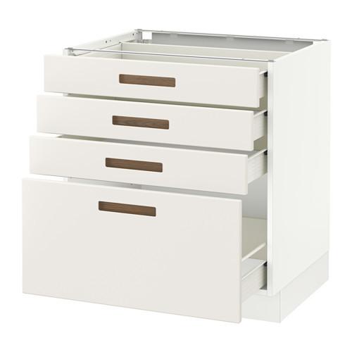 SEKTION Base cabinet with 4 drawers, brown Maximera, Grimslv medium brown