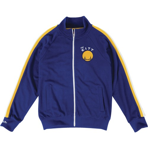 Mitchell & Ness Men's Golden State Warriors French Terry Jacket