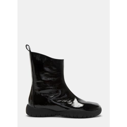 Patent Scuba Tabi Boots in Black