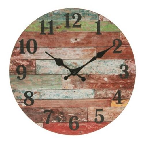 Farmhouse Worn Wall Clock 12 x 12 - Stonebriar Collection
