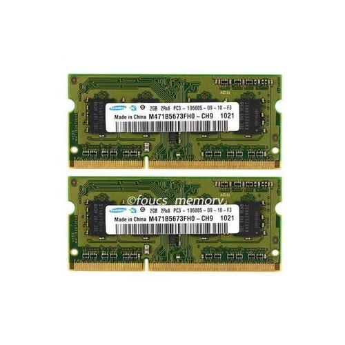 Samsung 4GB 2x2GB PC3-10600 DDR3-1333MHz 204Pin Laptop Sodimm Memory For MacBook Ram NON-ECC