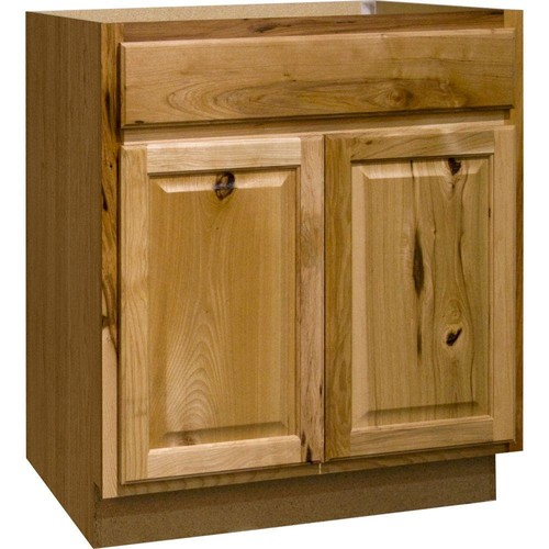Hampton Bay Hampton Assembled 30 x 34.5 x 21 in. Base Bath Vanity Cabinet in Natural Hickory