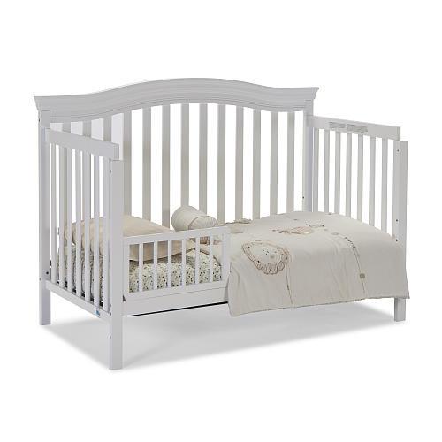 Storkcraft Broyhill Kids Bowen Heights 4-in-1 Convertible Crib - White