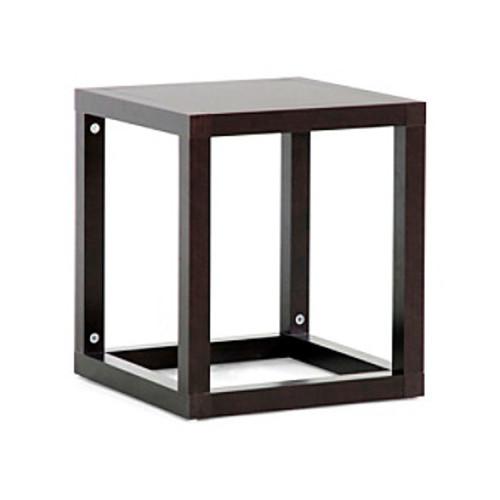 Baxton Studios Hallis Brown Modern Accent Table or Nightstand