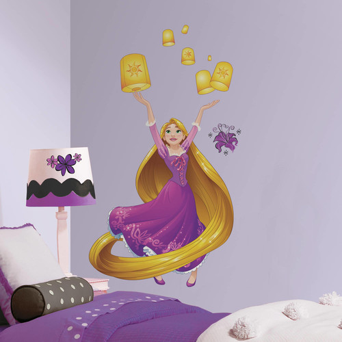 RoomMates Decor Disney Sparkling Rapunzel Peel-and-Stick Giant Wall Decals