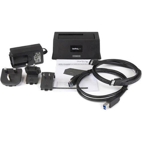 StarTech - eSATA/USB 3.0 Hard Drive Docking Station - Black