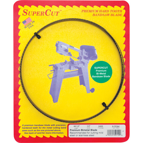 SuperCut Bi-Metal Replacement Band Saw Blade  64 1/2in.L x 1/2in.W, 6/10 TPI