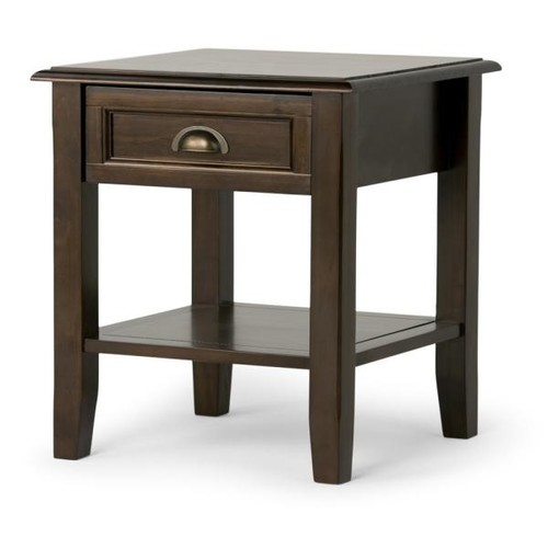 Simpli Home Burlington Rich Espresso Storage End Table