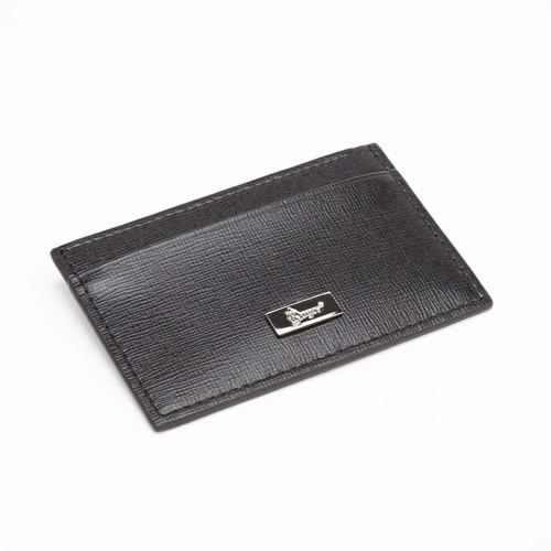 Royce Leather RFID Blocking Slim Card Case Wallet, Black