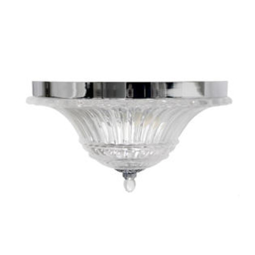 Elegant Designs 2 Light Glass Ceiling Light Glacier Petal Flushmount. Chrome