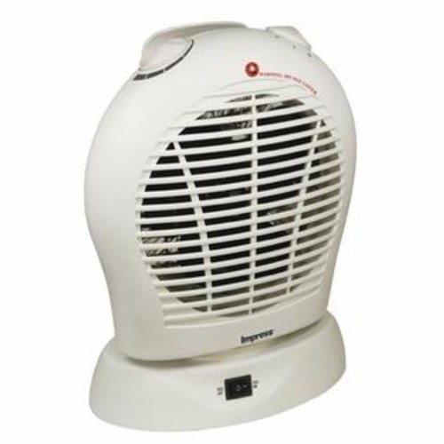 Impress Portable Oscillating Heater with Termperature Control White