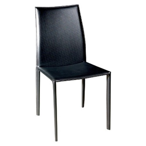 Baxton Studio Rockford Leather Dining Chair, Brown