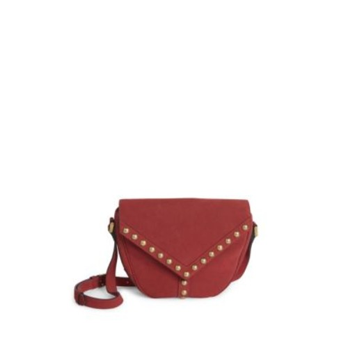 SAINT LAURENT Y Studs Besace Suede Crossbody Bag