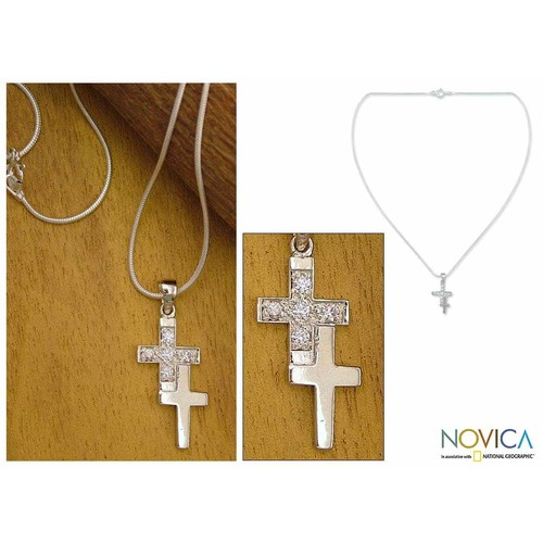 Handmade Sterling Silver 'To Each a Cross' Necklace (India)