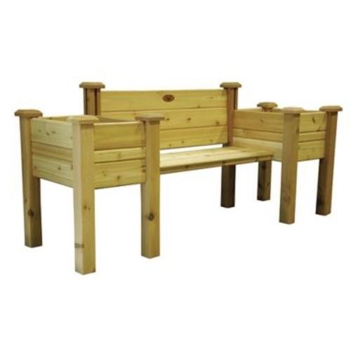 Gronomics Novelty Wood Planter Bench; Standard