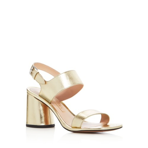 MARC JACOBS Emilie Metallic Strappy Sandals