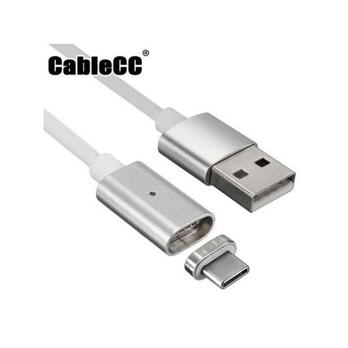 Cablecc USB-C Type-C to USB Male Magnetic Charging Cable for Cell Phone & Tablet Reversible Design