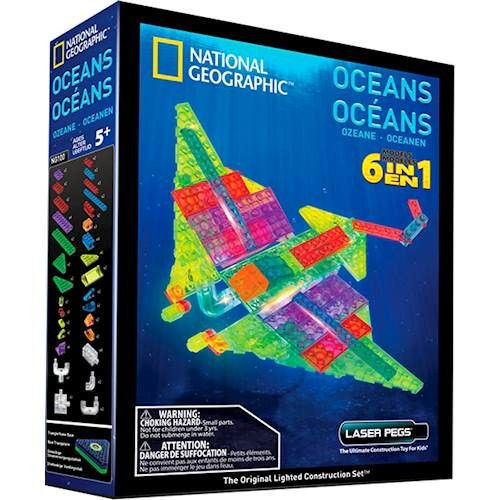 LASER PEGS - 6-In-1 National Geographic Oceans Construction Set