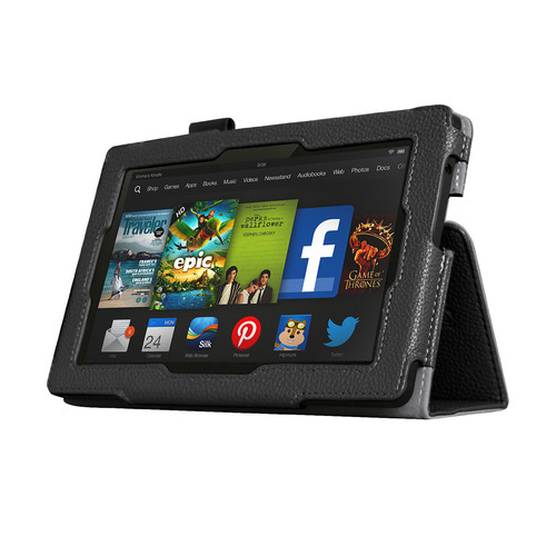 Mgear Accessories 97086846M Black Double-Fold Folio Case for Kindle Fire HD 7