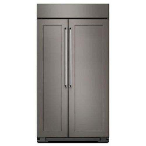 KitchenAid 42 in. W 25.5 cu. ft. Built-In Side by Side Refrigerator in Panel Ready