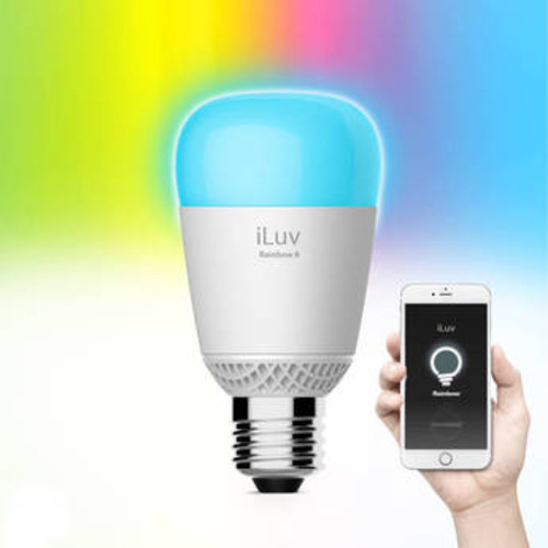 iLuv WiFi Multicolor Smart LED Light Bulb For Smartphones and Tablets