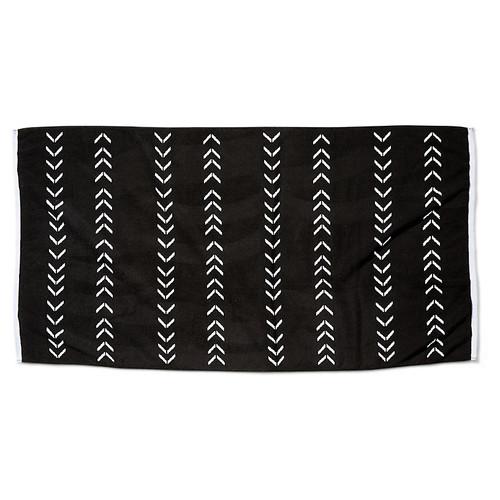 Chevron Beach Towel, Black