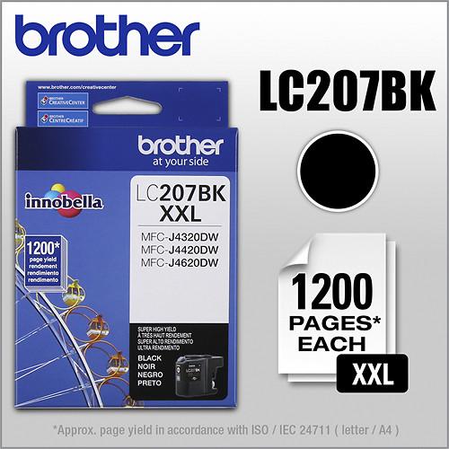 Brother - LC207BK XL High-Yield Ink Cartridge - Black