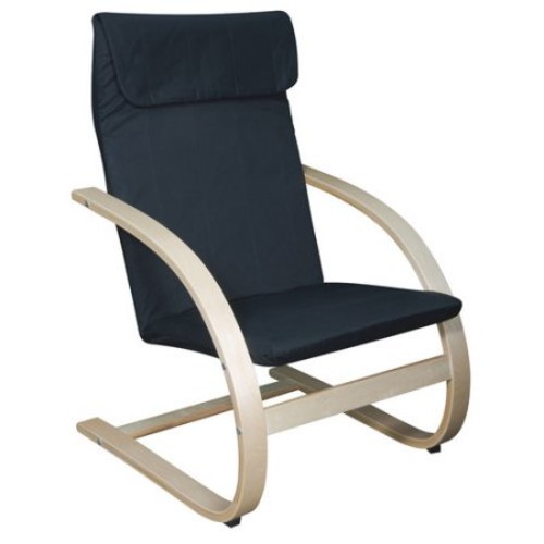 Mia Birch Bentwood Lounge Chair, Multiple Colors