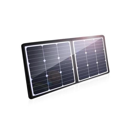 Poweradd 50W Solar Charger 18V 12V sunpower Solar Panel for Laptop, iPhone X / 8 / 8 Plus, iPad Pro, iPad mini, Macbook, iPad Samsung, Generator, ChargerCenter, UPS and More