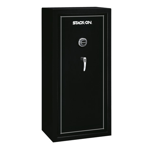 Stack-On 22-Gun Steel Security Safe with Combination Lock, Fully Convertible, Matte Black