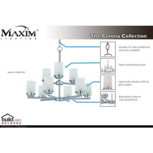 Maxim 10205 Corona 5 Light 1 Tier Chandelier
