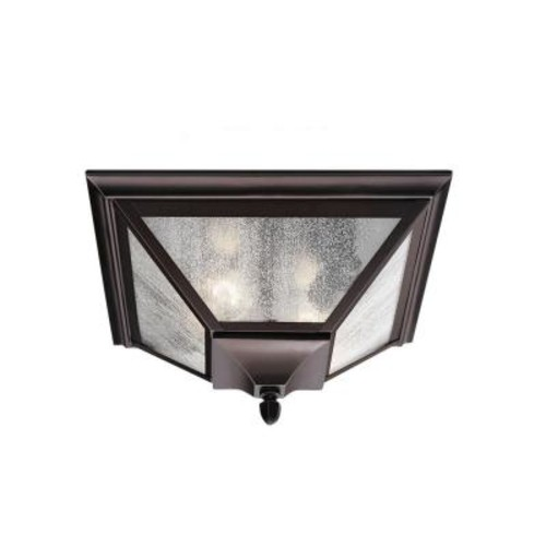 Feiss Homestead 2-Light Oil Rubbed Bronze Outdoor Ceiling Fixture