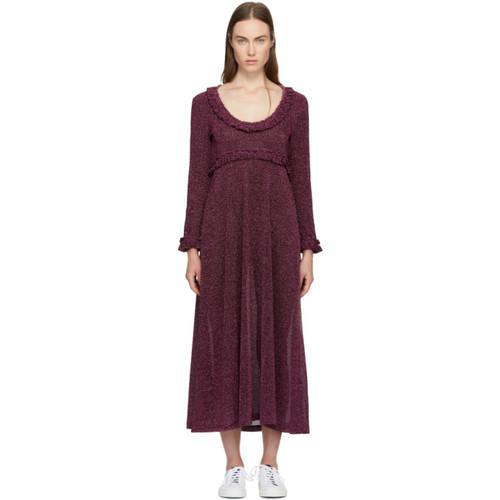 Pink Lurex Frill Dress