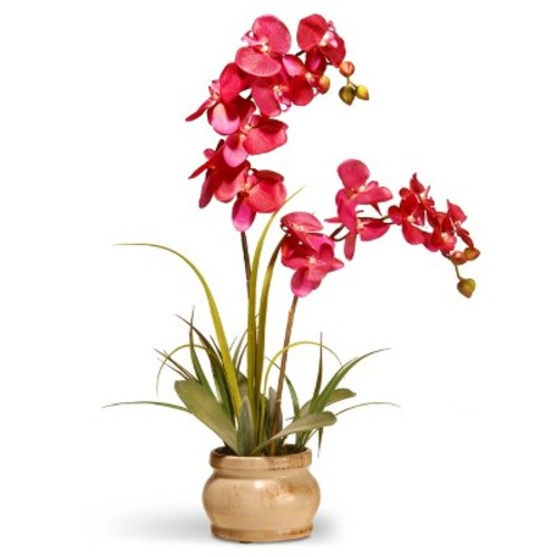 Artificial Orchid in Ceramic Pot Pink 24