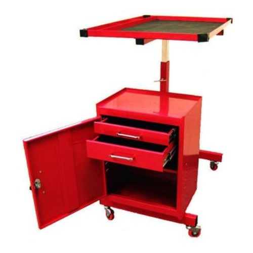 Excel 31.7 in. Steel Tool Utility Cart, Red