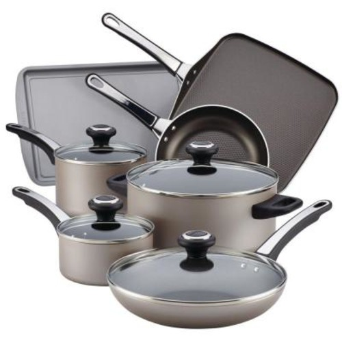 Farberware High Performance 17-Piece Chocolate Cookware Set with Lids