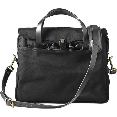 Filson Twill Original Water-Resistant Briefcase, Black 70256-BL