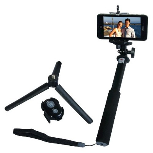 ZUMA - Selfie Stick Monopod with Removable Bluetooth Adapter for GoPro + Mini Tripod