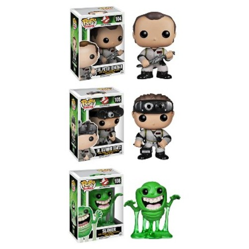 Funko Ghostbusters POP! Movies Collectors Set: Dr. Peter Venkman, Dr. Raymond Stantz, Slimer Action Figure