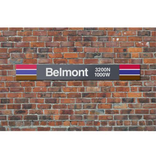 Chicago CTA Metal Sign- Belmont