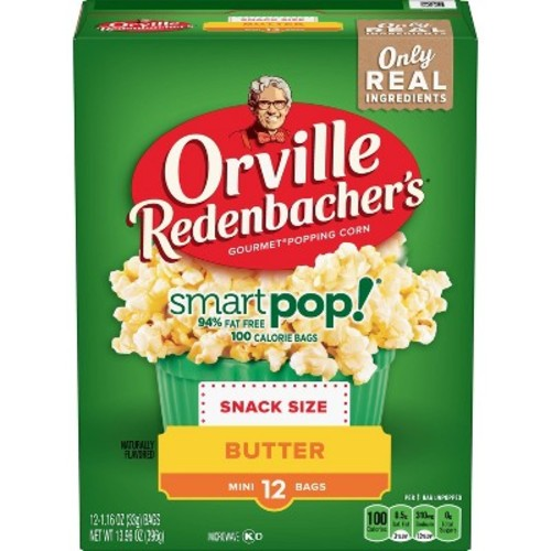 Orville Redenbacher's Smart Pop! Butter Popcorn Classic Bag - 32.29oz - 12ct