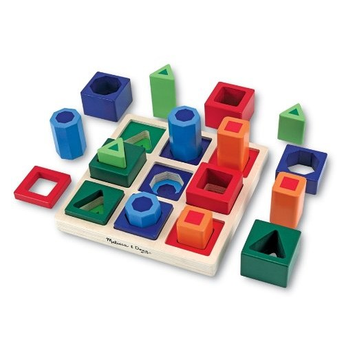 Melissa & Doug Shape Sequence Wooden Sorting Set and Educational Toy [1]