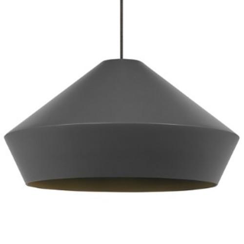 Brummel Grande Pendant Light [Finish : Black; Light Option : Incandescent]