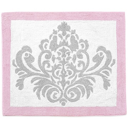Sweet Jojo Designs Elizabeth Rug in Pink/Grey