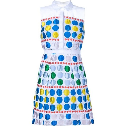 DELPOZO Polka Dot Shirt Dress