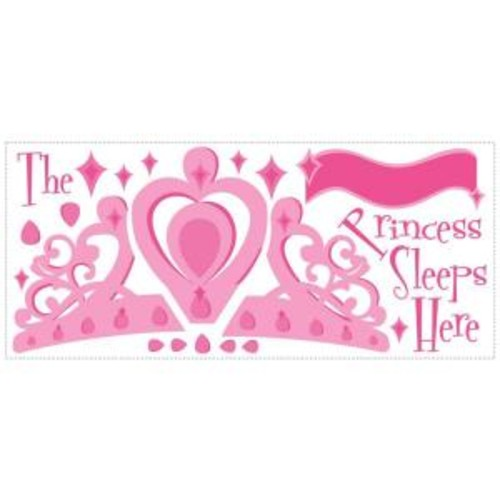 RoomMates 16 in. x 30 in. Princess Sleeps Here Peel and Stick Giant Wall Decal with Personalization