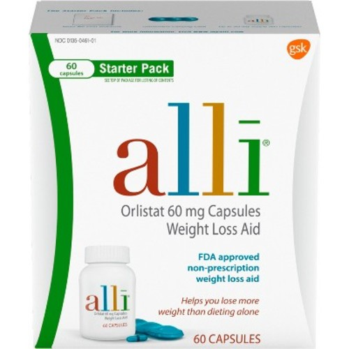 alli Weight Loss Aid Diet Pills, 60mg Starter Pack, 60 Count [Old Packaging]