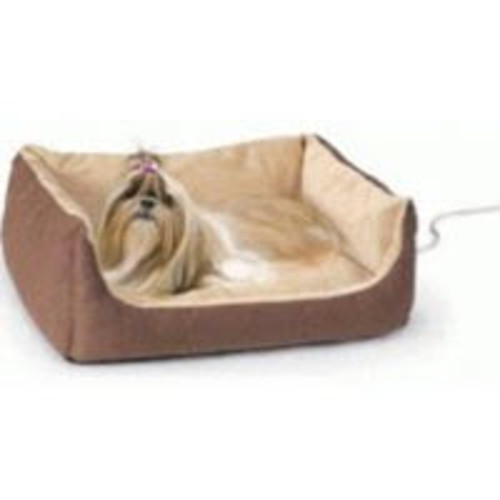 K&H Thermo-Pet Heated Cuddle Cushion Pet Bed [Dimension height : 14]